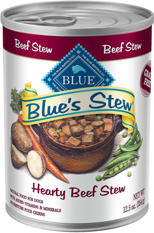 Blue Buffalo Blue's Hearty Beef Stew Grain Free Canned Dog Food, 12.5-oz