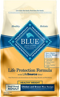 Blue Buffalo Life Protection Formula Small Breed Healthy Weight Adult Chicken & Brown Rice Recipe Dry Dog Food