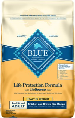 Blue Buffalo Life Protection Formula Small Breed Healthy Weight Adult Chicken & Brown Rice Recipe Dry Dog Food, 15-lb bag