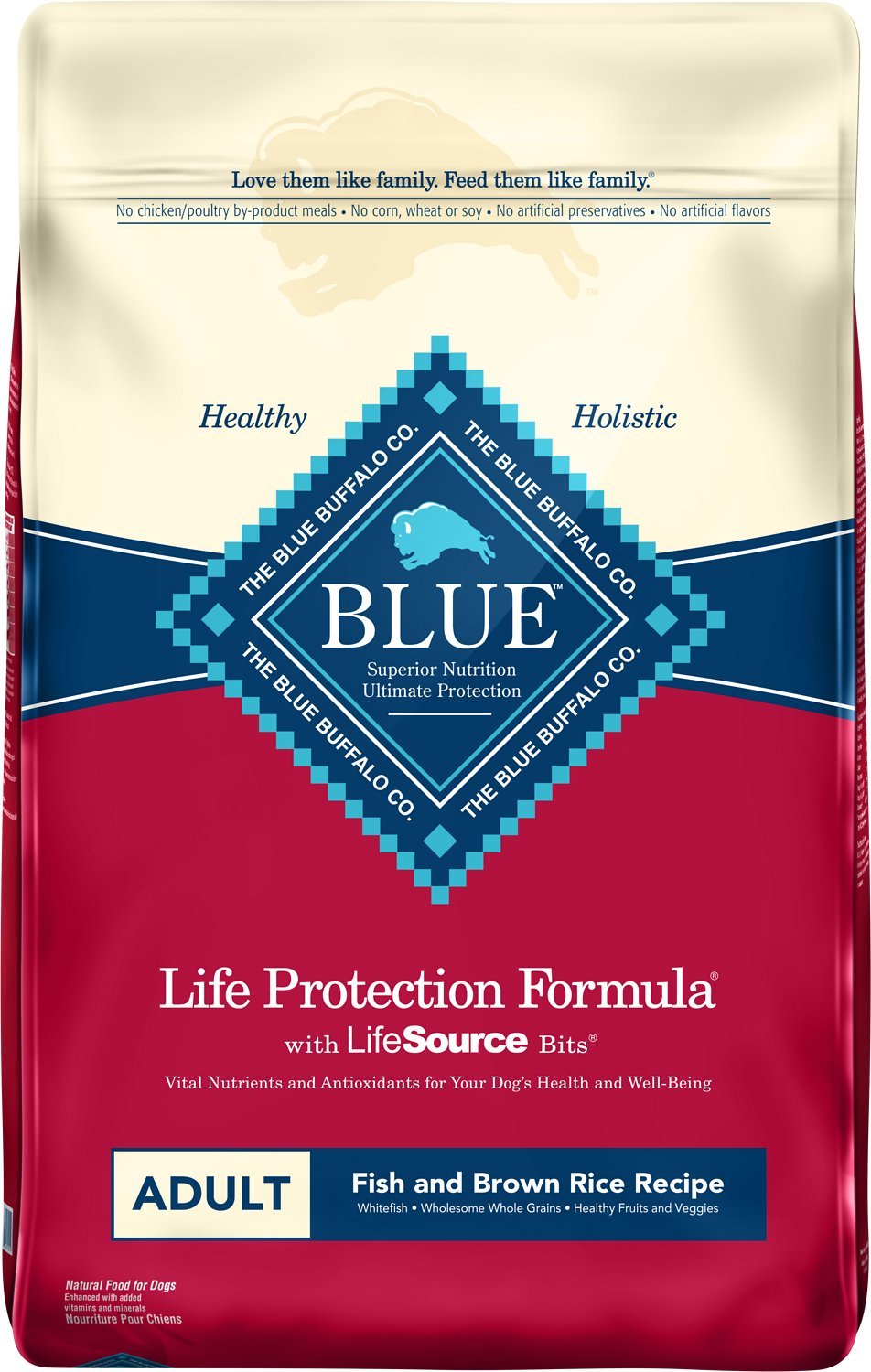 Blue Buffalo Life Protection Formula Adult Fish & Brown Rice Recipe Dry Dog Food Image