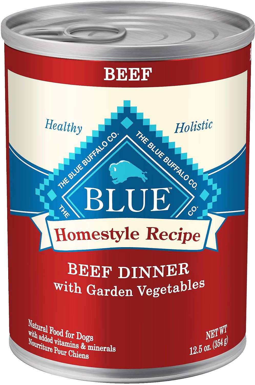 Blue Buffalo Homestyle Recipe Beef Dinner with Garden Vegetables & Sweet Potatoes Canned Dog Food, 12.5-oz