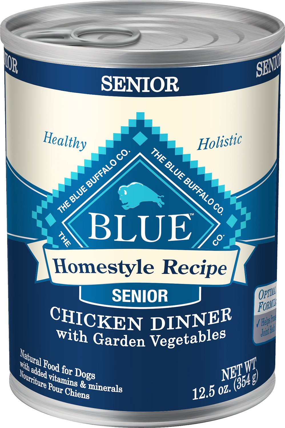 Blue Buffalo Homestyle Recipe Senior Chicken Dinner with Garden Vegetables Canned Dog Food, 12.5-oz
