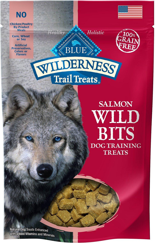 Blue Buffalo Wilderness Trail Treats Salmon Wild Bits Grain-Free Training Dog Treats, 4-oz bag