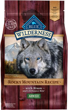 Blue Buffalo Wilderness Rocky Mountain Recipe with Bison Adult Grain-Free Dry Dog Food, 4-lb bag