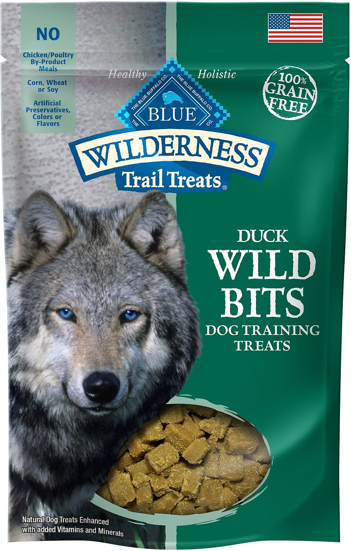 Blue Buffalo Wilderness Trail Treats Duck Wild Bits Grain-Free Training Dog Treats, 4-oz bag