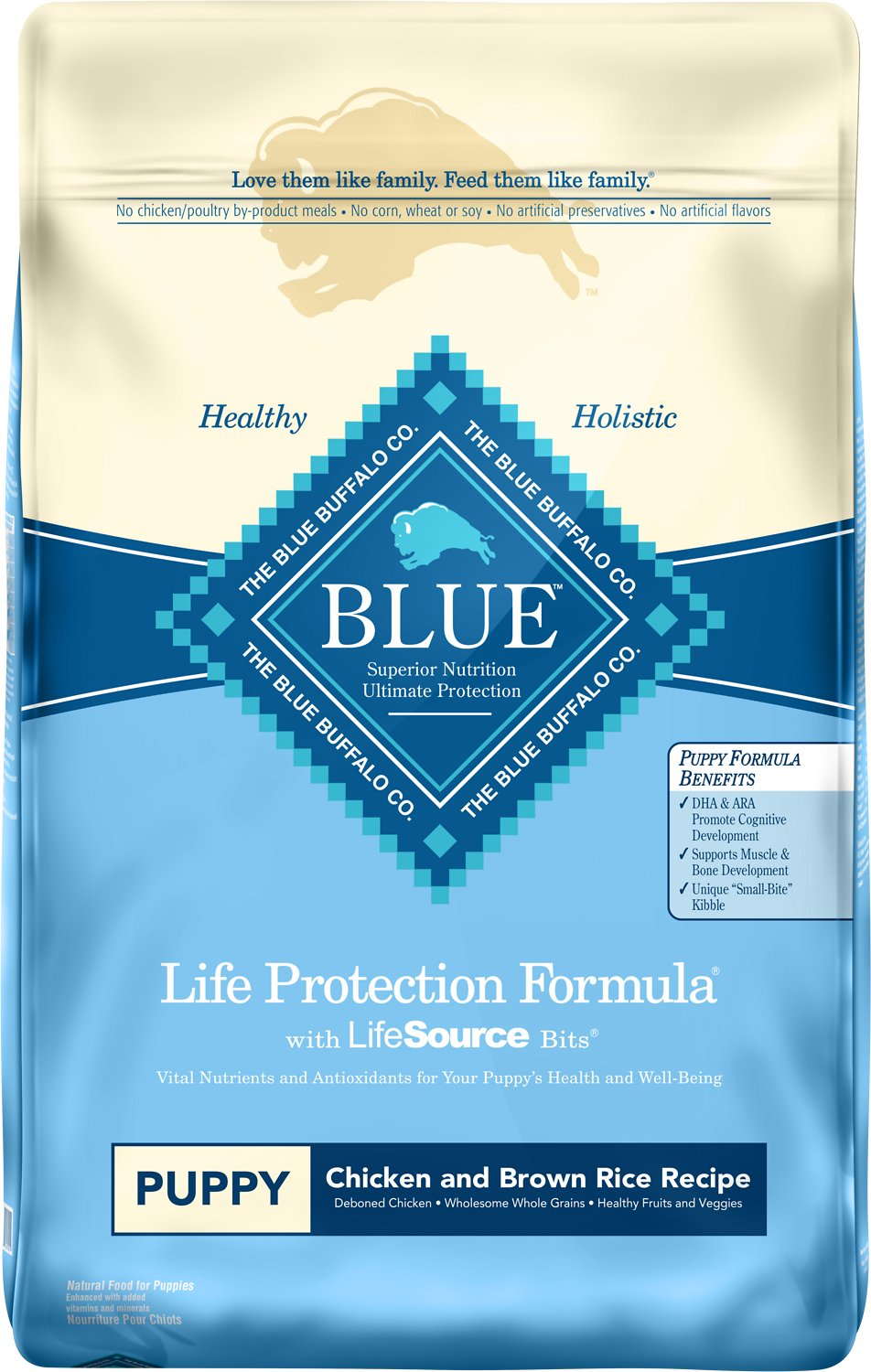Blue Buffalo Life Protection Formula Puppy Chicken & Brown Rice Recipe Dry Dog Food Image