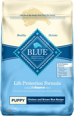 Blue Buffalo Life Protection Formula Puppy Chicken & Brown Rice Recipe Dry Dog Food, 15-lb bag