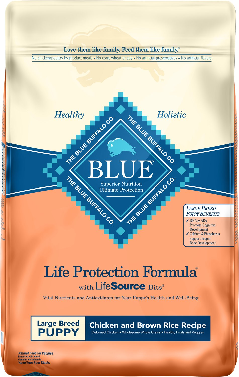 Blue Buffalo Life Protection Formula Large Breed Puppy Chicken & Brown Rice Recipe Dry Dog Food Image
