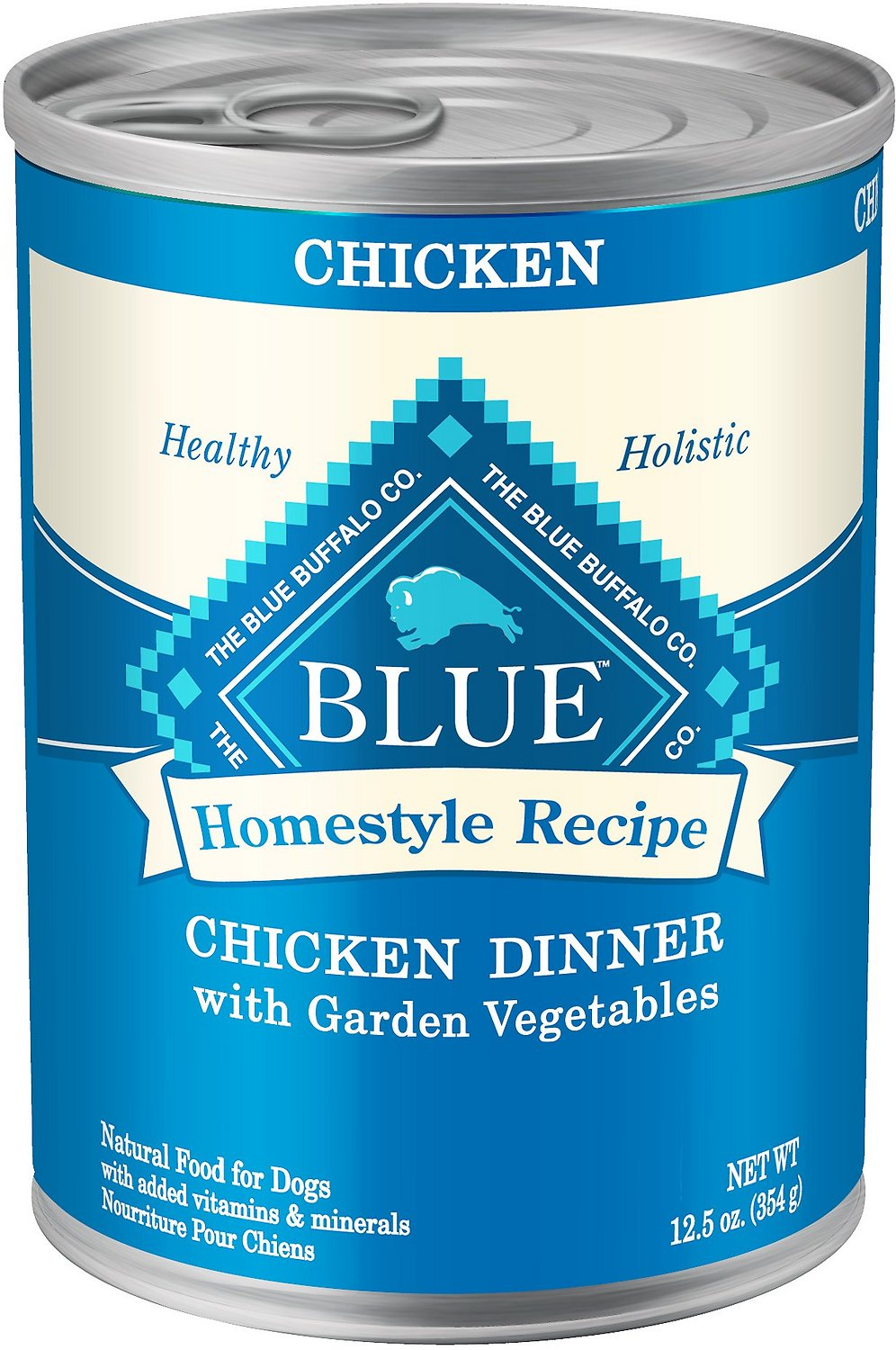 Blue Buffalo Homestyle Recipe Chicken Dinner with Garden Vegetables & Brown Rice Canned Dog Food, 12.5-oz Size: 12.5-oz
