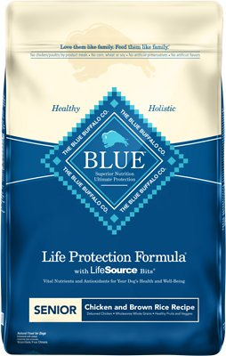Blue Buffalo Life Protection Formula Senior Chicken & Brown Rice Recipe Dry Dog Food, 15-lb bag