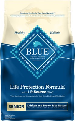 Blue Buffalo Life Protection Formula Senior Chicken & Brown Rice Recipe Dry Dog Food, 6-lb bag
