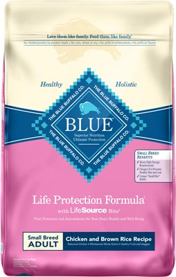 Blue Buffalo Life Protection Formula Small Breed Adult Chicken & Brown Rice Recipe Dry Dog Food, 15-lb bag