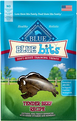 Blue Buffalo Blue Bits Tender Beef Recipe Soft-Moist Training Dog Treats, 4-oz bag