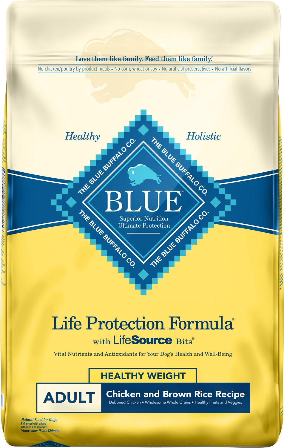 Blue Buffalo Life Protection Formula Healthy Weight Adult Chicken & Brown Rice Recipe Dry Dog Food Image