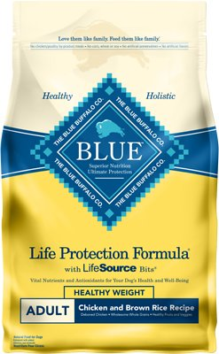 Blue Buffalo Life Protection Formula Healthy Weight Adult Chicken & Brown Rice Recipe Dry Dog Food, 6-lb bag
