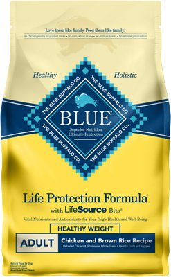 Blue Buffalo Life Protection Formula Healthy Weight Adult Chicken & Brown Rice Recipe Dry Dog Food, 3-lb bag