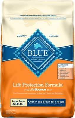 Blue Buffalo Life Protection Formula Large Breed Adult Chicken & Brown Rice Recipe Dry Dog Food, 15-lb bag