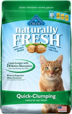 Blue Buffalo Naturally Fresh Walnut-Based Quick-Clumping Cat Litter, 26-lb bag