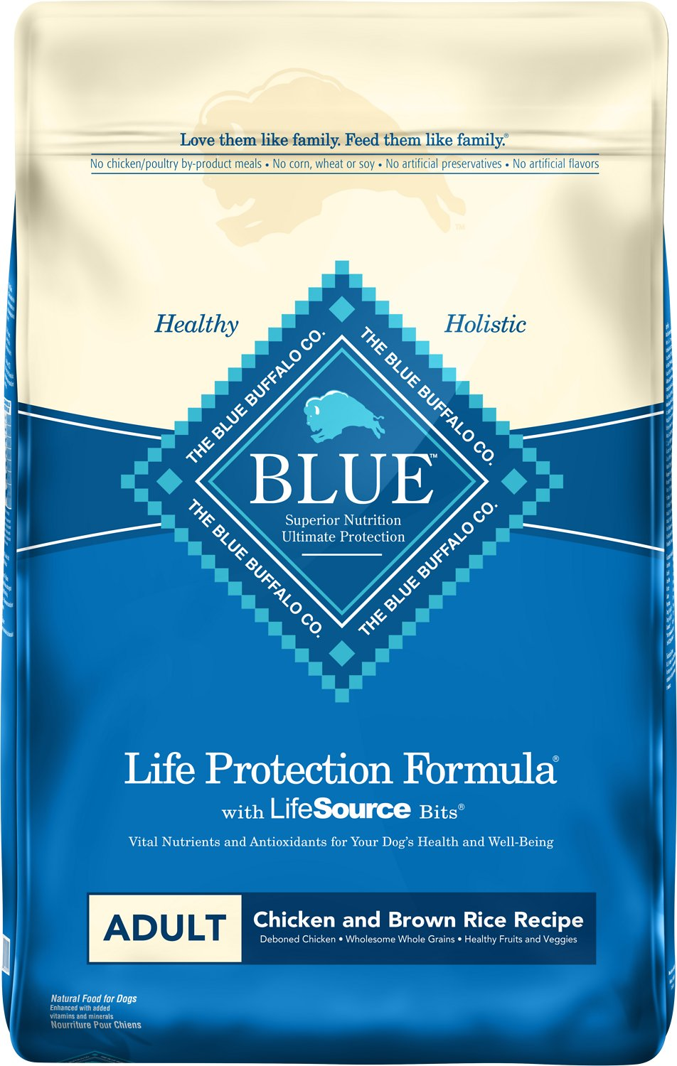 Blue Buffalo Life Protection Formula Adult Chicken & Brown Rice Recipe Dry Dog Food Image