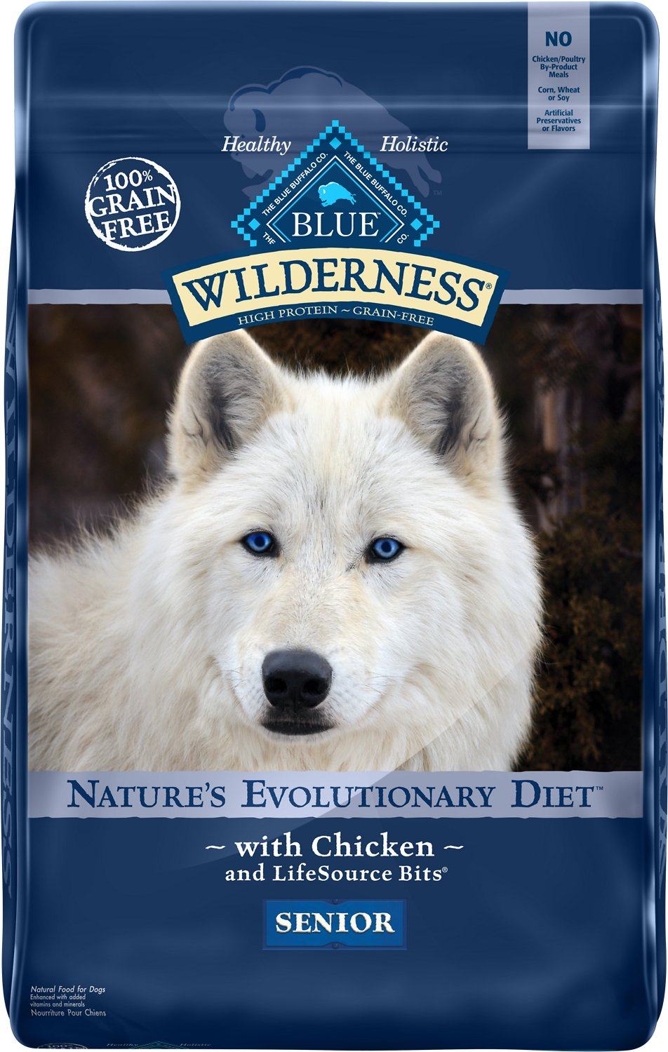 Blue Buffalo Wilderness Senior Chicken Recipe Grain-Free Dry Dog Food Image