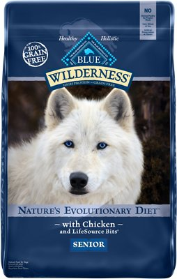 Blue Buffalo Wilderness Senior Chicken Recipe Grain-Free Dry Dog Food, 11-lb bag