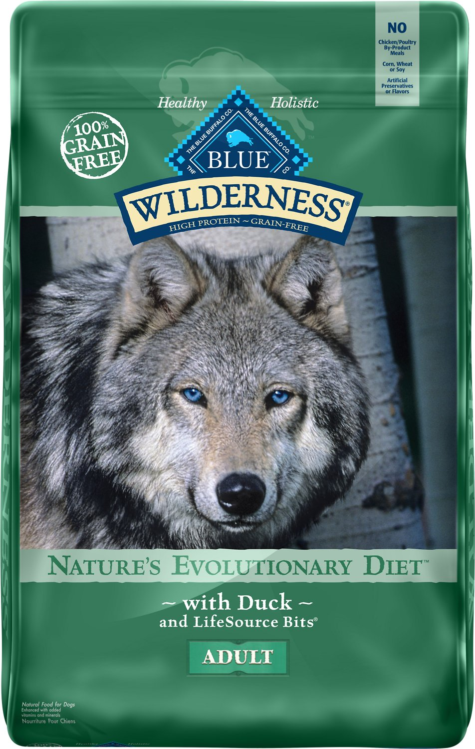 Blue Buffalo Wilderness Duck Recipe Grain-Free Dry Dog Food Image