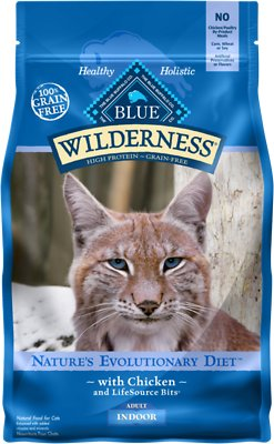 Blue Buffalo Wilderness Indoor Chicken Recipe Grain-Free Dry Cat Food