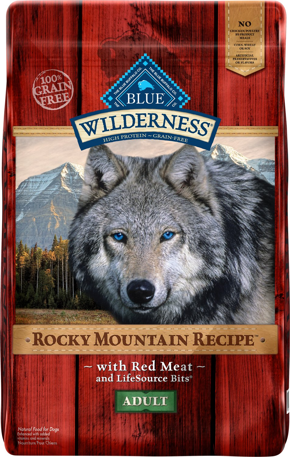 Blue Buffalo Wilderness Rocky Mountain Recipe with Red Meat Adult Grain-Free Dry Dog Food Image