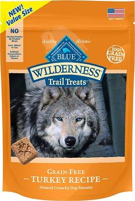 Blue Buffalo Wilderness Trail Treats Turkey Biscuits Grain-Free Dog Treats, 24-oz bag