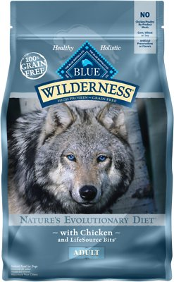 Blue Buffalo Wilderness Chicken Recipe Grain-Free Dry Dog Food, 4.5-lb bag