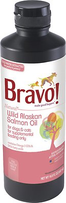 Bravo! Wild Alaskan Salmon Oil Dog & Cat Supplement