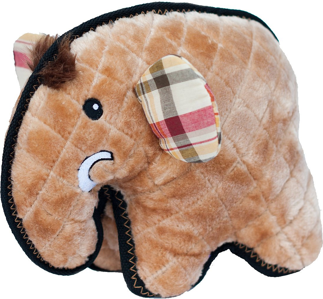 ZippyPaws Z-Stitch Grunterz Manny the Mammoth Dog Toy