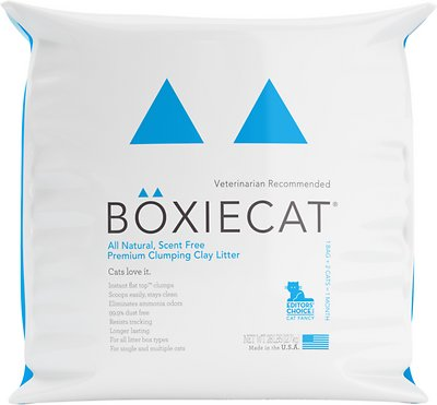 Boxiecat Scent Free Premium Clumping Clay Cat Litter