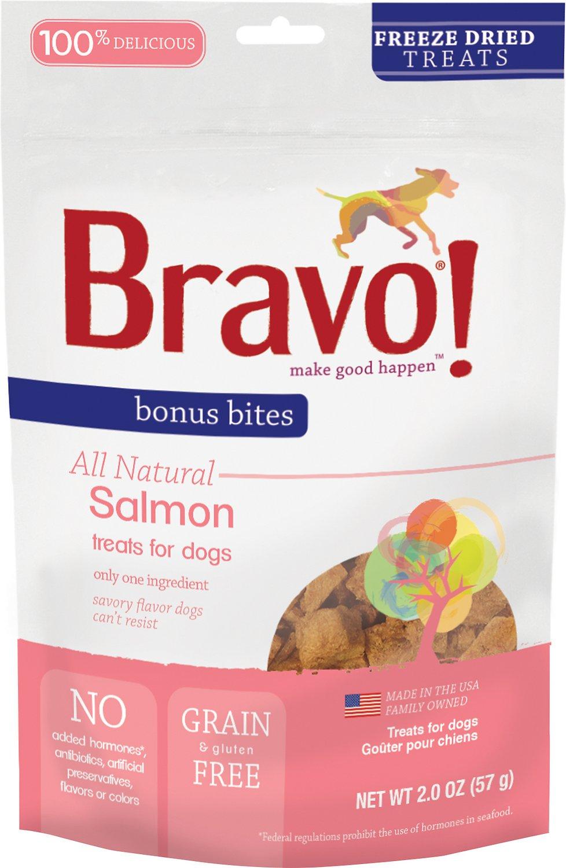 Bravo! Bonus Bites Salmon Freeze-Dried Dog Treats, 2-oz bag
