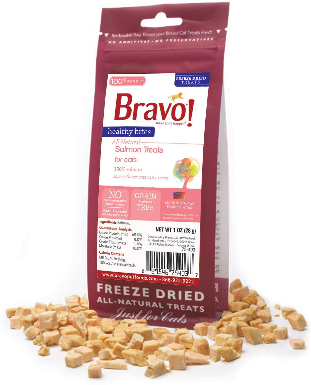 Bravo! Healthy Bites Salmon Freeze-Dried Cat Treats, 1-oz bag