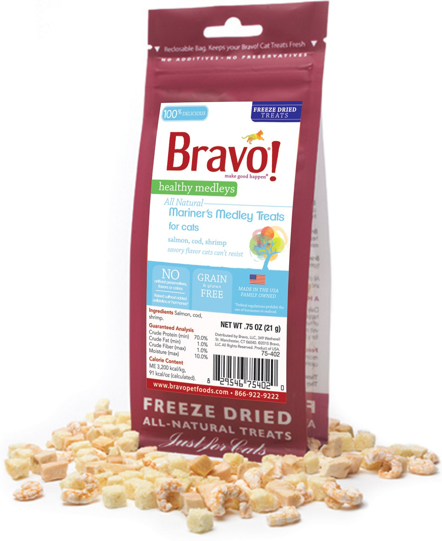 Bravo! Healthy Medley Mariner's Medley Freeze-Dried Cat Treats, 0.75-oz bag