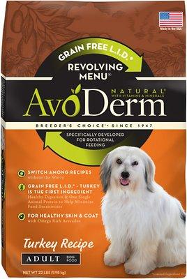 AvoDerm Natural Grain-Free Revolving Menu Turkey Recipe Adult Dry Dog Food