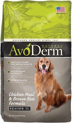 AvoDerm Natural Chicken Meal & Brown Rice Formula Senior Dry Dog Food