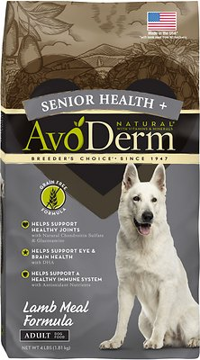 AvoDerm Senior Health Lamb Meal Formula Dry Dog Food