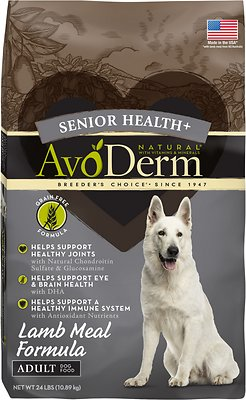 AvoDerm Senior Health Lamb Meal Formula Dry Dog Food
