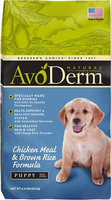 AvoDerm Natural Chicken Meal & Brown Rice Formula Puppy Dry Dog Food