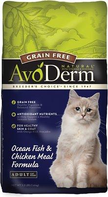 AvoDerm Natural Grain-Free Ocean Fish & Chicken Meal Adult Dry Cat Food