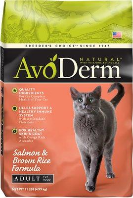 AvoDerm Natural Salmon & Brown Rice Formula Adult Dry Cat Food