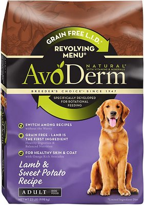 AvoDerm Natural Grain-Free Revolving Menu Lamb & Sweet Potato Recipe Adult Dry Dog Food