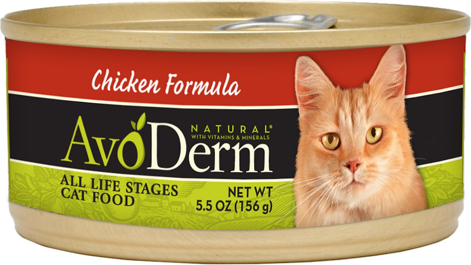 AvoDerm Natural Chicken Formula Canned Cat Food, 5.5-oz