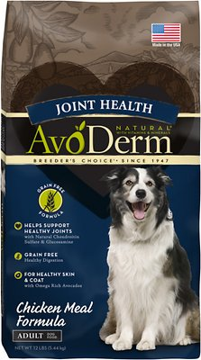 AvoDerm Active Care Healthy Joint Chicken Meal Formula Grain-Free Dry Dog Food