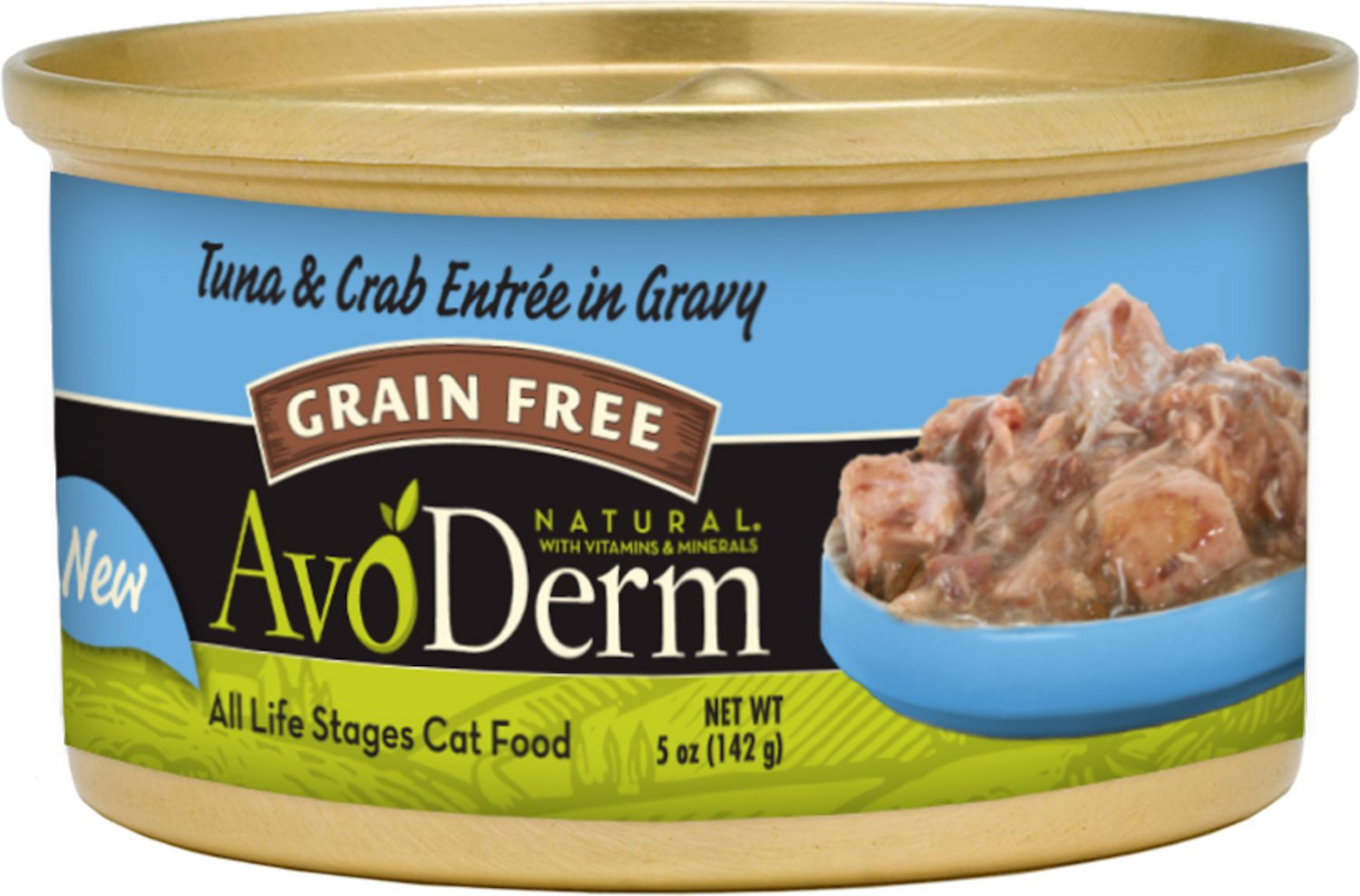 AvoDerm Natural Grain-Free Tuna & Crab Entree in Gravy Canned Cat Food