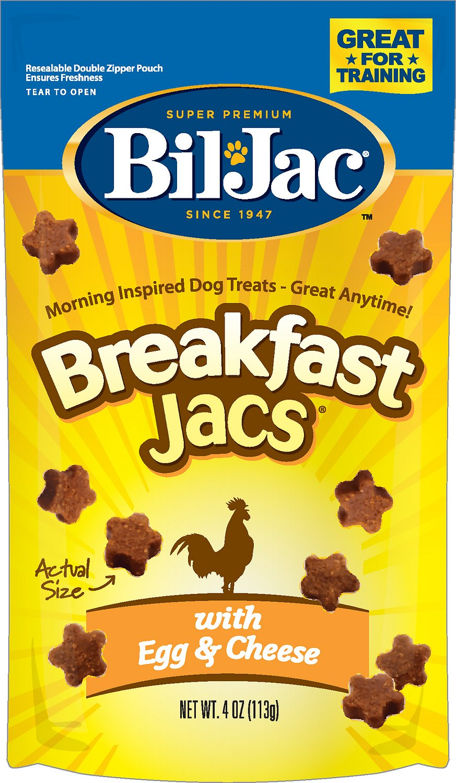 Bil-Jac Breakfast Jacs Egg & Cheese Flavor Dog Treats, 4-oz bag
