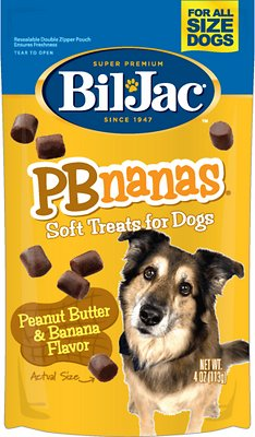 Bil-Jac PBnanas Peanut Butter & Banana Flavor Soft Dog Treats, 4-oz bag