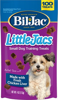 Bil-Jac Little-Jacs Small Dog Chicken Liver Training Dog Treats